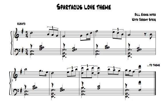 bill evans spartacus love theme