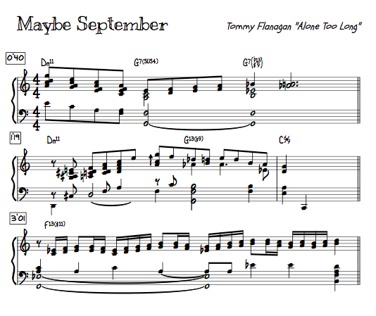Maybe September Tommy Flanagan piano jazz